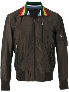 куртка-бомбер с контрастным воротником  Paul Smith