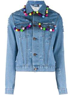 джинсовая куртка с помпонами Forte Couture