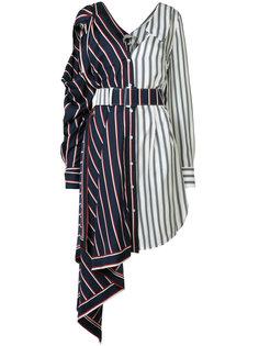 асимметричное платье в полоску Monse