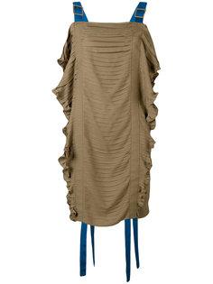 платье со сборками Marco De Vincenzo