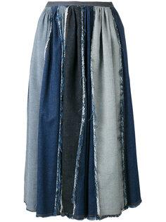 юбка со складками и контрастным дизайном Antonio Marras