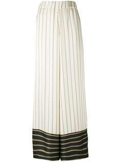 брюки в полоску с контрастным дизайном Antonio Marras