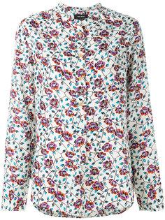 рубашка с цветочным узором без воротника Isabel Marant