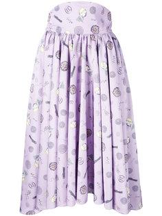 плиссированная юбка с завышенной талией Olympia Le-Tan