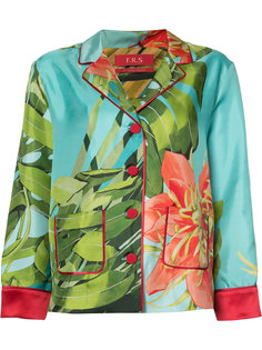 пижамная рубашка с принтом папоротника F.R.S For Restless Sleepers