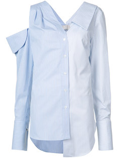 полосатая рубашка с открытым плечом Monse