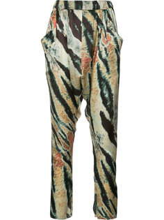 брюки с узором Baja East