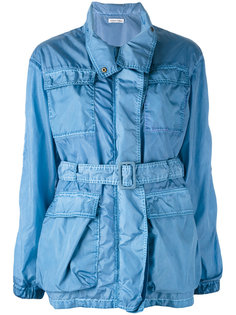 джинсовое пальто с поясом  Tomas Maier