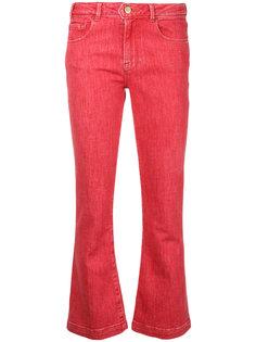 укороченные расклешенные джинсы Frame Denim