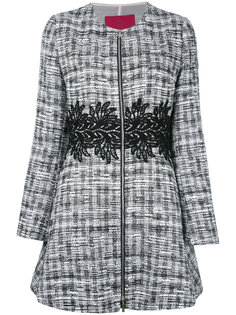 твидовое пальто на молнии Moncler Gamme Rouge