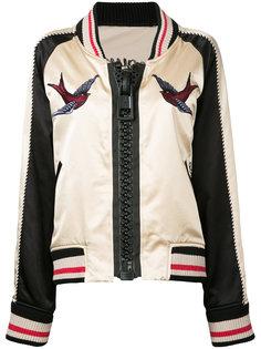 куртка-бомбер с вышивкой  Maison Mihara Yasuhiro