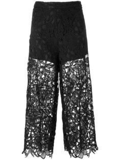 укороченные кружевные брюки Alice+Olivia
