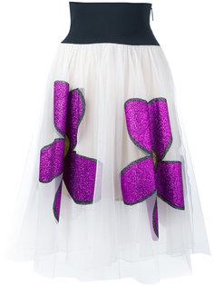 юбка с блестящими цветами Christopher Kane
