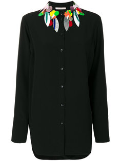 рубашка с блестящим декором Christopher Kane