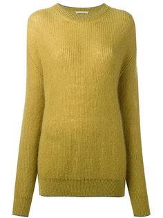 вязаный мохеровый свитер Christopher Kane
