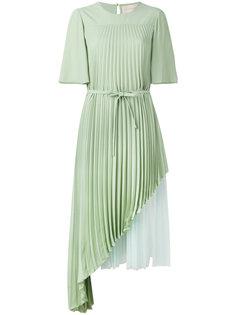 двухслойное плиссированное платье Christopher Kane