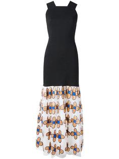 платье с легкой цветочной юбкой Christopher Kane
