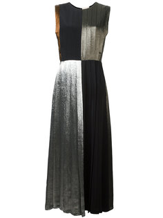 плиссированное платье со вставками из ламе Christopher Kane