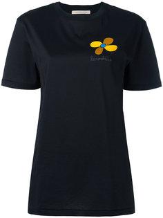 футболка с вышитым цветком Christopher Kane