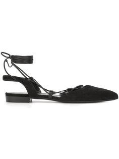 сандалии с завязками на щиколотке Saint Laurent