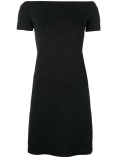 приталенное платье с вырезом-лодочка Helmut Lang