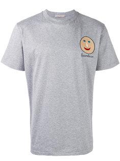 футболка с вышивкой лица Christopher Kane