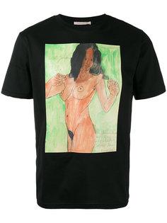футболка с принтом голой женщины Christopher Kane