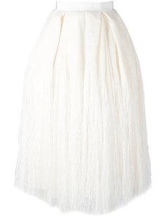 юбка со складками и бахромой Maison Rabih Kayrouz