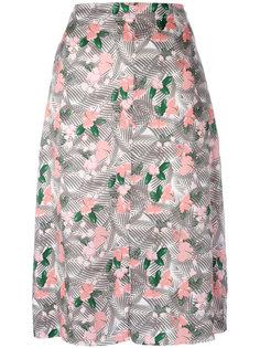 юбка миди с цветочным принтом Julien David