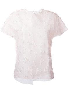 текстурированная футболка Julien David