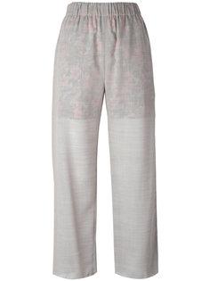 брюки с контрастной подкладкой Julien David