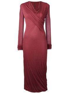 драпированное платье миди Rick Owens Lilies