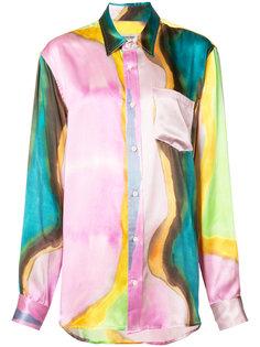 рубашка с размытым принтом Rachel Comey