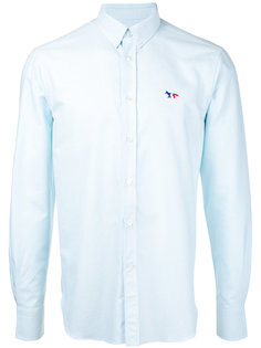 рубашка с вышитой лисой Maison Kitsuné