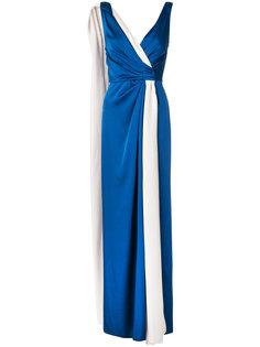 платье с запахом без рукавов Paule Ka