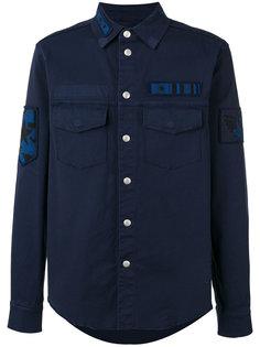 рубашка с нашивкой в стиле милитари  Valentino
