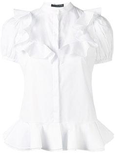 рубашка с оборками  Alexander McQueen