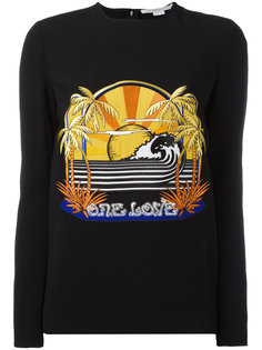 эластичная толстовка с вышивкой One Love Stella McCartney