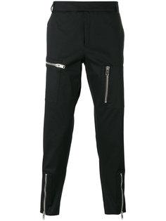 укороченные брюки с молниями  Les Hommes