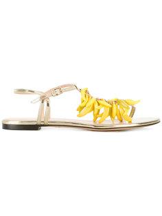 сандалии с отделкой в виде бананов Charlotte Olympia