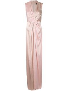 длинное платье со сборками Paule Ka