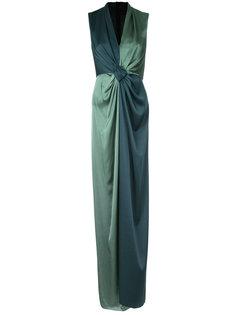 длинное платье с контрастной отделкой  Paule Ka