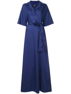длинное платье с запахом Paule Ka