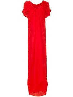 длинное платье с драпировкой Paule Ka