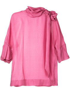 блузка с завязкой на горловине  Paule Ka