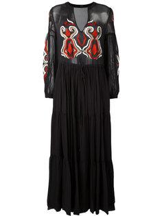 длинное платье с вышивкой Wandering