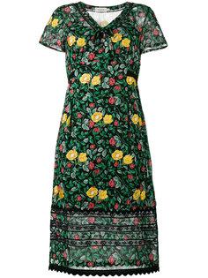 полупрозрачное платье с цветочным принтом Coach