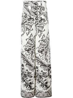 широкие брюки с орнаментом Etro