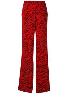 широкие брюки с пятнистым принтом  Roberto Cavalli