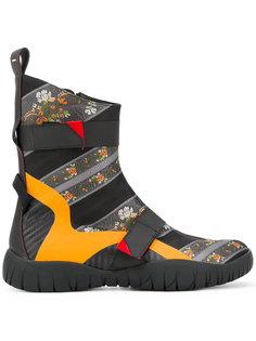 ботинки с цветочным орнаментом Maison Margiela